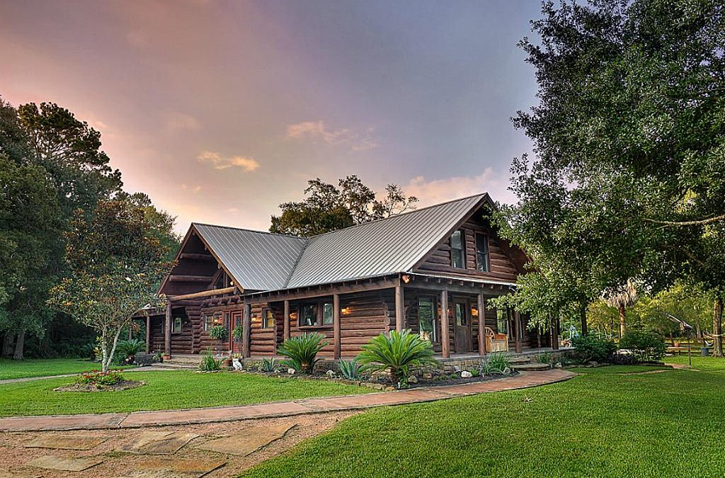 Magnificent Log Cabin Home in Wooded Countryside